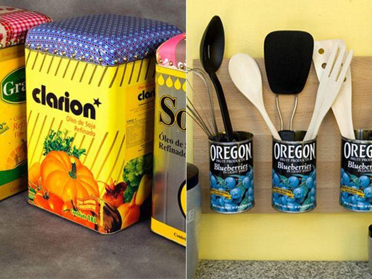 35 ideias para reutilizar latas na decoração de sua casa