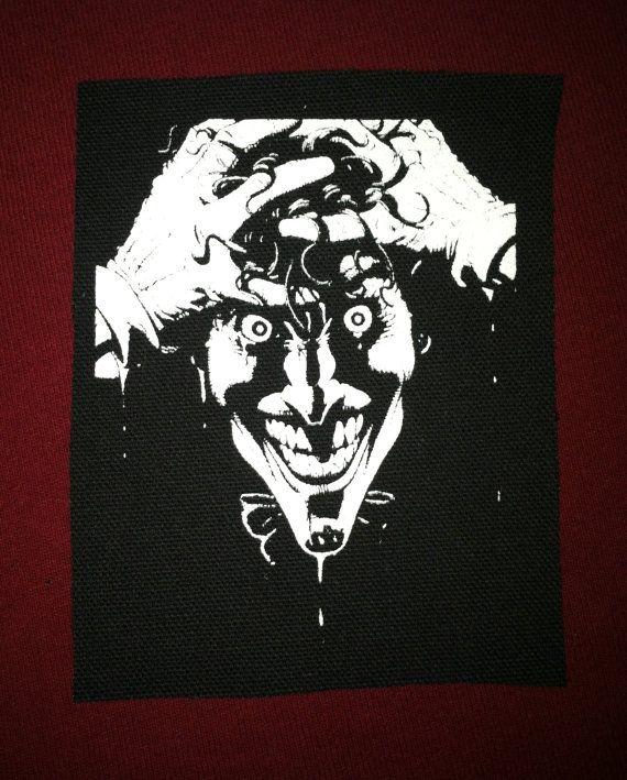Joker Cloth Punk Patch by EvilThreadCustoms on Etsy