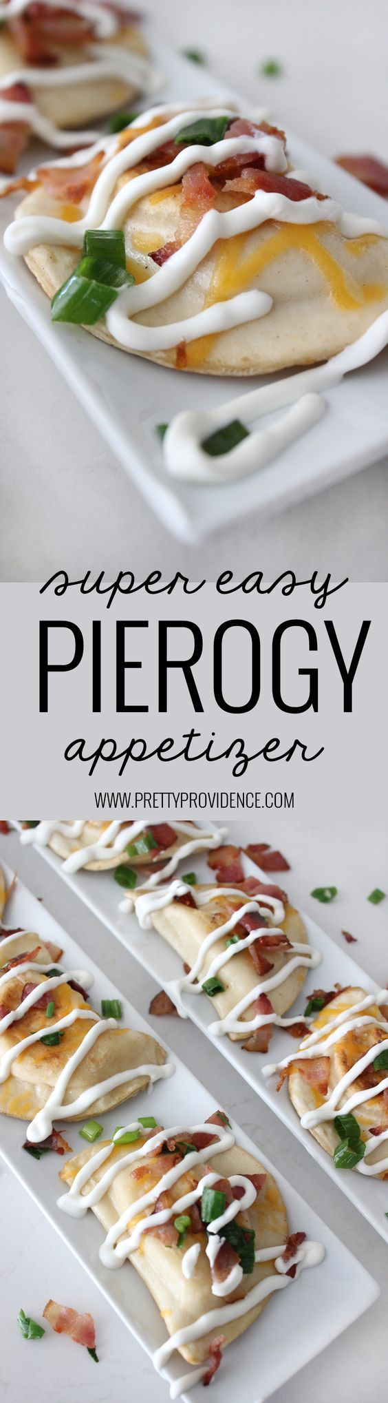 This SUPER EASY Pierogy appetizer is so delicious! Perfect for watching the game with friends or making a date night in of your favorite TV series!