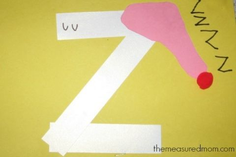 letter Z craft (6) - the measured mom