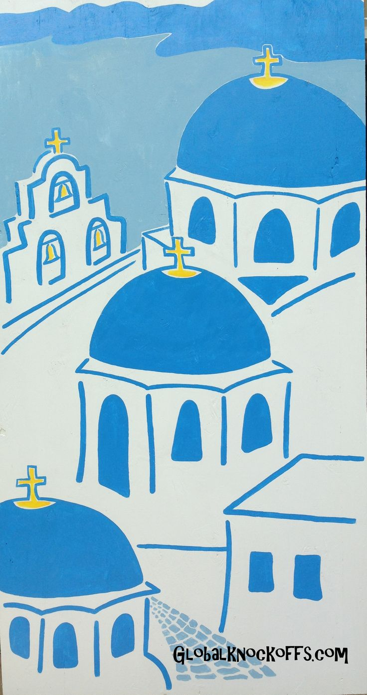 Santorini churches art