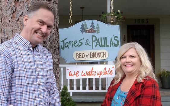 James Anderson with Paula Pell