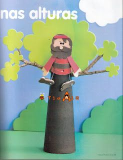 Zaccheus craft incl template (instructions in portugese though). Still, pictures…