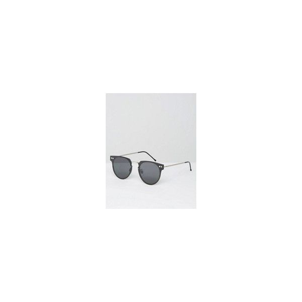 AJ Morgan Flat Lens Cat Eye Sunglasses in Black ($20) ❤ liked on Polyvore featuring men's fashion, men's accessories, men's eyewear, men's sunglasses, mens circle sunglasses, mens aviator sunglasses and mens oversized sunglasses