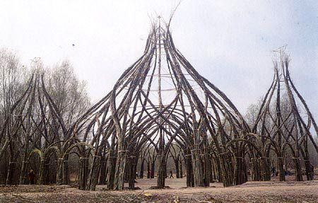Natural Architecture - getting plants to grow what you want in a structure. So cool!
