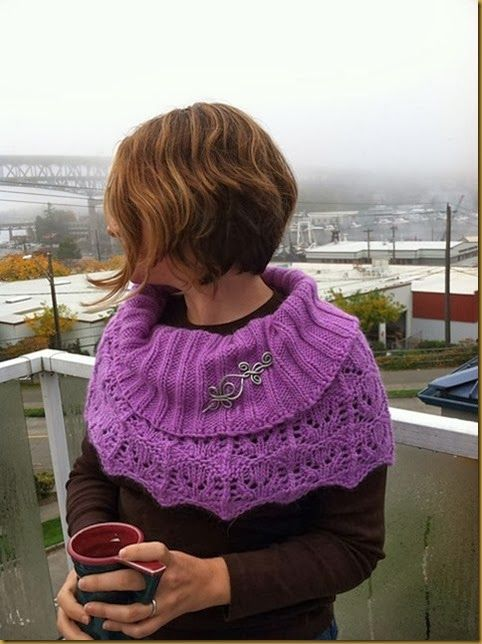 I stumbled across this awesome photo of our Aluminum Celtic Loops and Spirals Shawl Pin on this gorgeous Havelock cowl knit by Yarnella. There's something so wonderful about seeing your work in use in real life by someone you've never met before. And working well!