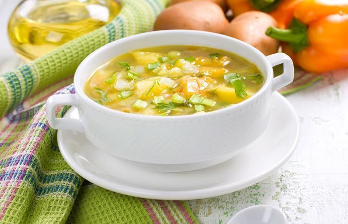 Vegetable Soup Recipes For Weight Loss - Garlic Vegetable Soup
