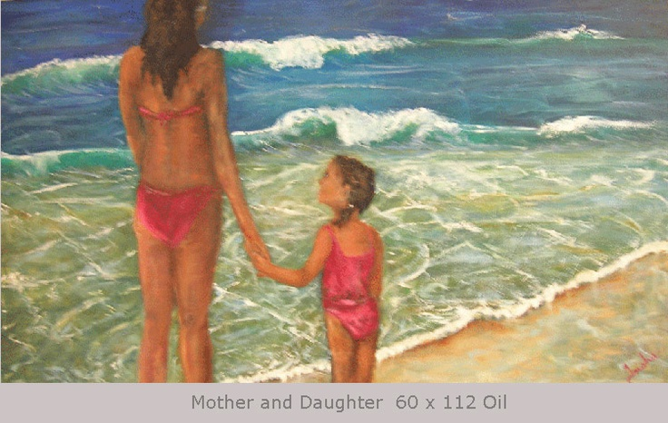 Mother and Daughter 60 x 112 Oil