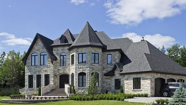 Dream Family Home with manufactured stone that looks like all-natural stone... Rinox Lugano stone