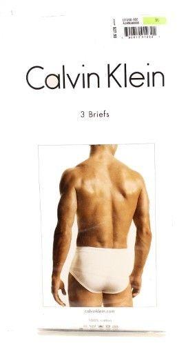Calvin Klein White Mens Size 30 Three-Pack Classic Fit Underwear Briefs