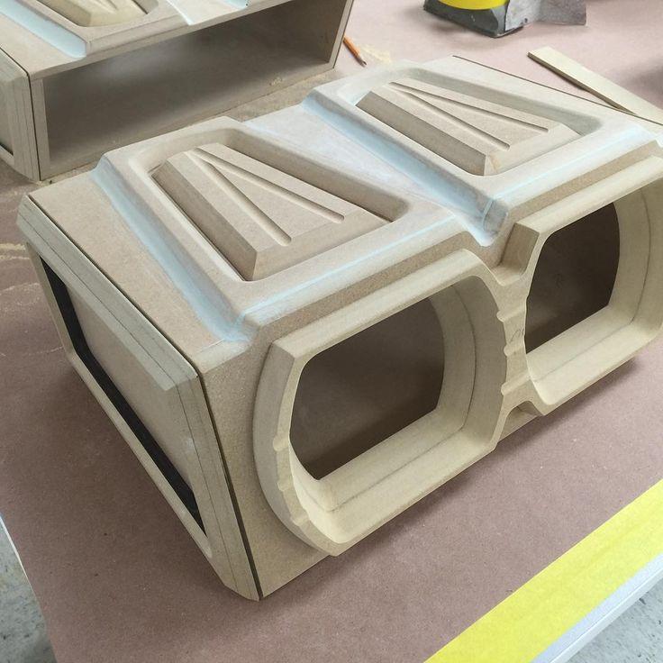 custom fiberglass sub enclosures, subwoofers modern | Car ...
