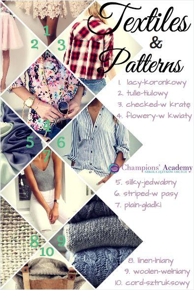 Więcej przydatnych wyrażeń na temat Materiałów i wzorów:http://www.champions-academy.pl/blog/shopping_spree#.WRQah8mkKMI