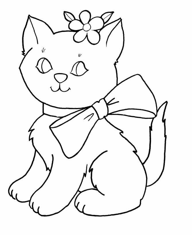 coloring pages for kids kids coloring pages free printable easter bow kitty coloring page - Free Coloring Pages For Girls