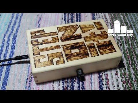 How to make a wooden stomp box with piezo pickup - YouTube