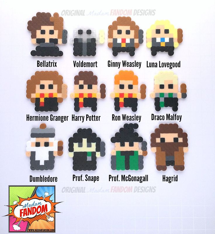 Harry Potter Party Favors 12 pcs perler beads by MadamFANDOM
