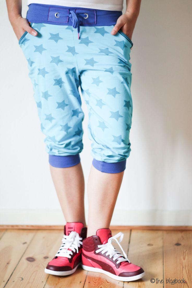 theblogbook | sewing | long shorts, lillestoff, stars, ki-ba-doo