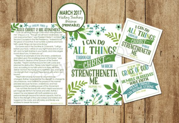 $2.50, March 2017 Visiting Teaching MessageDOWNLOAD by EdifiedAbode