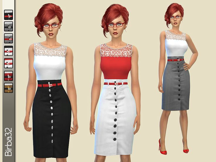 how to change work uniform sims 4