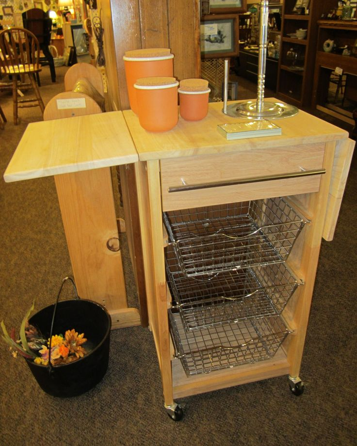 Rolling Kitchen Cart With Drop Leaf