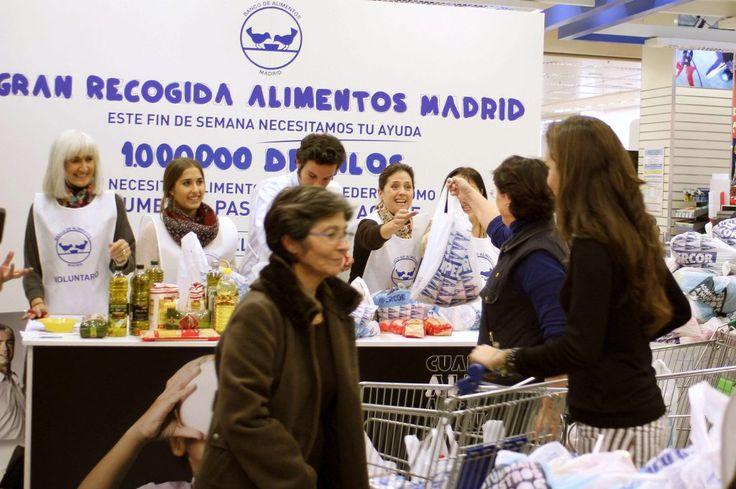 La Fundación Banco de Alimentos de Madrid necesita 22.000 voluntarios para la quinta edición de la Gran Recogida de Alimentos 2017