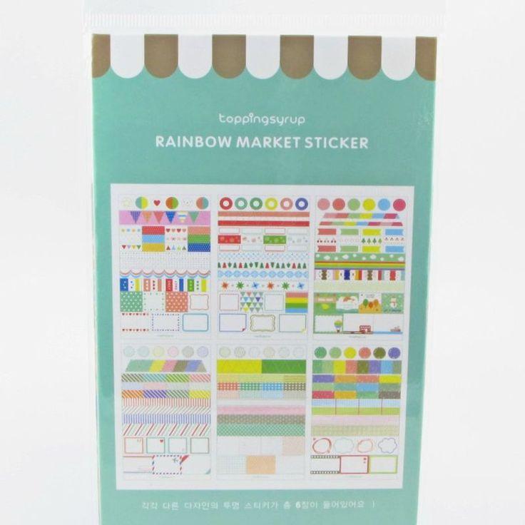 Adesivos – Cartela Rainbow market sticker4