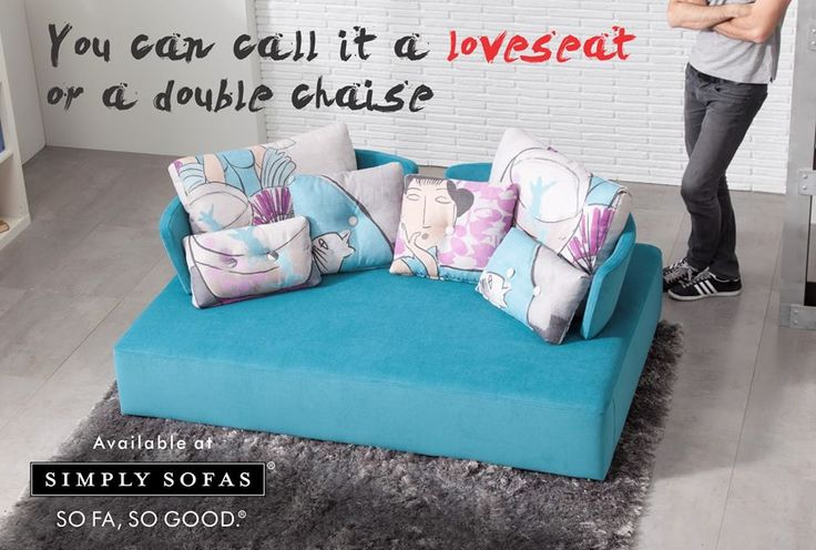 Fama MyCube sofa. For those who love the straight shapes, this sofa offers the function of a double chaise lounge. Now your leisure moments can be more fun. #sofas #sofa #colours #chaise #furniture #upholstery #bluecolour #design #twoseater #decor #interiors #Fama Visit: http://simplysofas.in/brand-fama