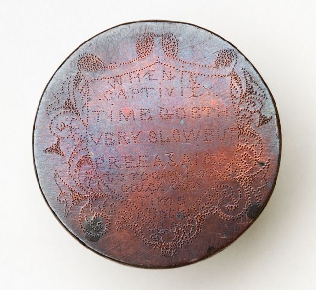 Leaden Hearts  Coins etched by convicts being transported to Australian from Britain.