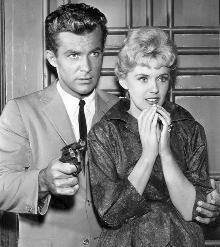 In 1959, Connie Stevens landed on a new hit TV show - Hawaiian Eye starred Robert Conrad (shown here with Connie) and Anthony Eisley and later on Troy Donahue would float over from his new hit TV show Surfside 6.