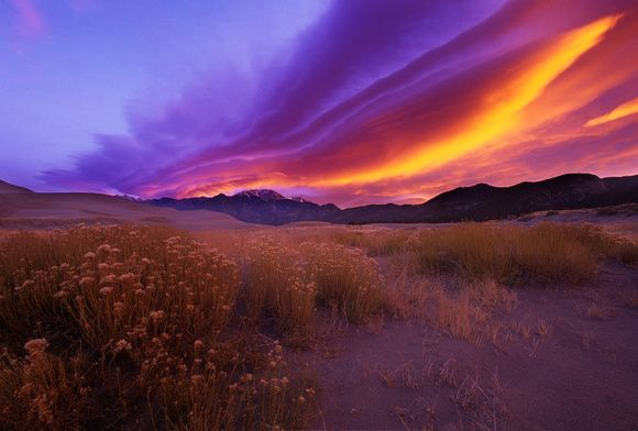 Sunset over Sangre de Cristo mountains…not an unfamiliar sight!