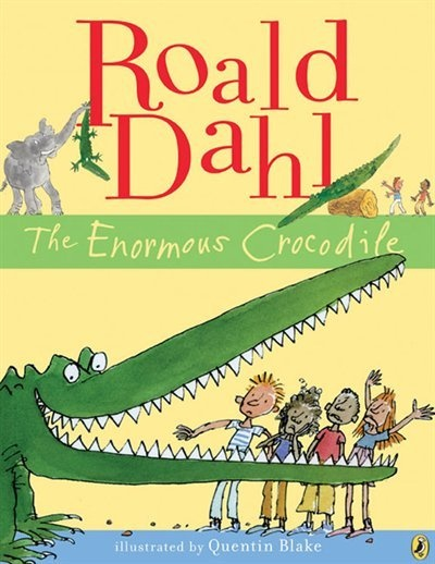 """""""The Enormous Crocodile"""" was the first book which children's author Roald Dahl and illustrator Quentin Blake worked on together. The two soon became friends, cementing one of the most eye-catching and distinctive collaborations in children's literature.  For lesson plan ideas for """"The Enormous Crocodile,"""" visit this page on Unique Teaching Resources:  http://www.uniqueteachingresources.com/Enormous-Crocodile-Lesson-Plans.html"""