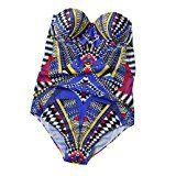 ❉ Femme Maillot de bain une pièce Grande Taille Push Up Amincissant Mince Bikini Maillots de bain Monokini GongzhuMM (Multicolore, M)