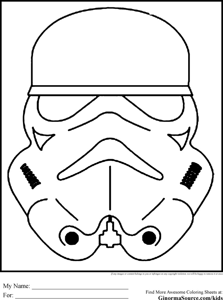 Star Wars Colouring Pages Stormtroopers Mask
