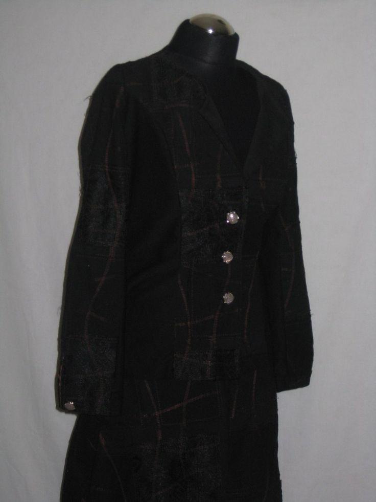 Костюм с гипюровыми вставками Жакет и юбка 44 размер, турецкий коттон