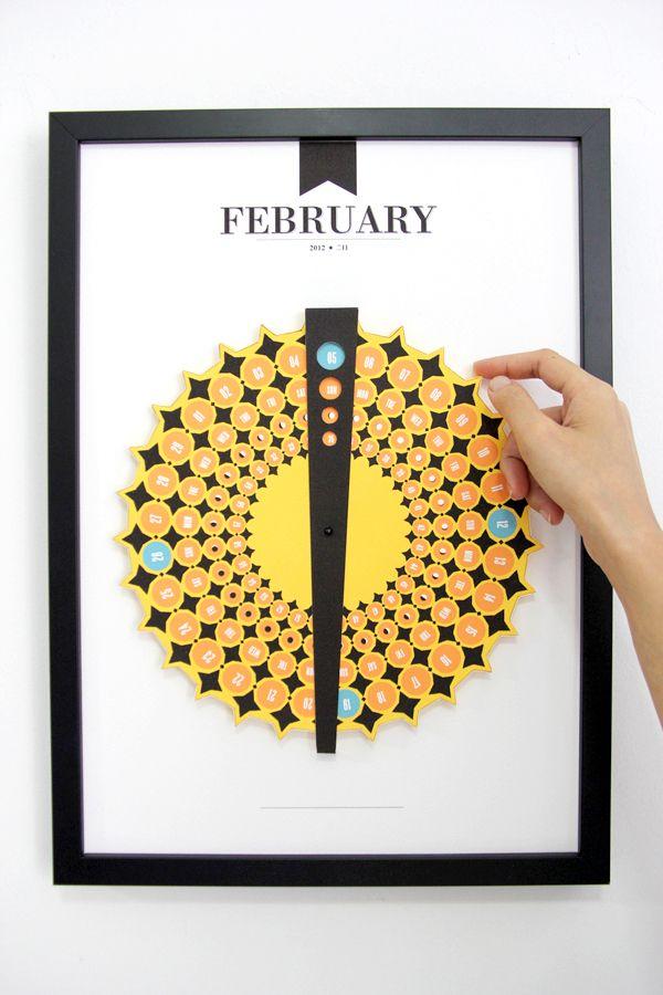 Calendar Design Pattern : February paper craft calendar design link to all months