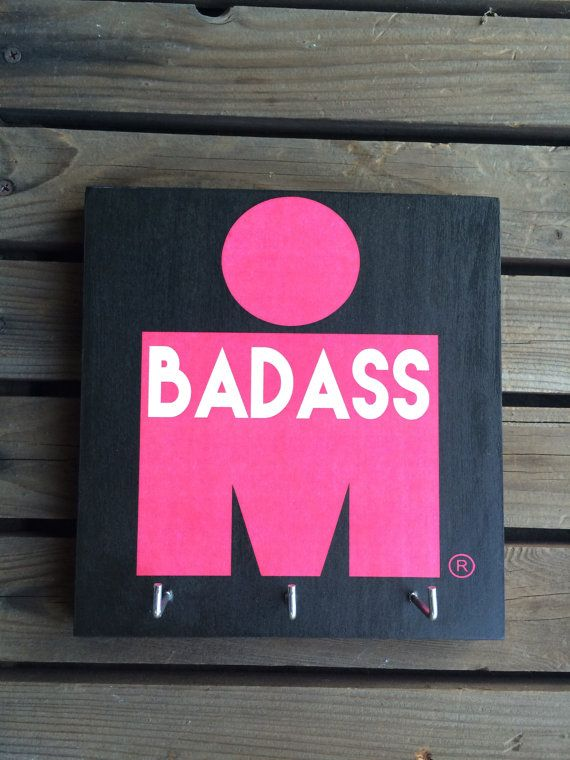 LOVE THIS as a gift for female badass triathlete! Race Medal Holder  Ironman Triathlon  BADASS by RunningByTheSea