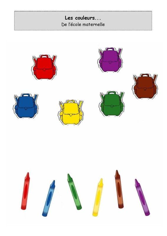 Les couleurs de l'école maternelle