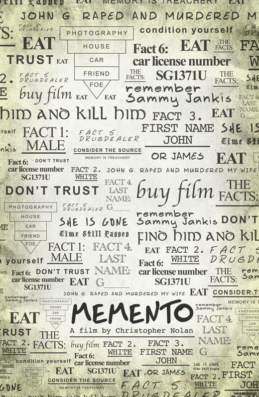 Memento. Christopher Nolan. Alternative movie posters