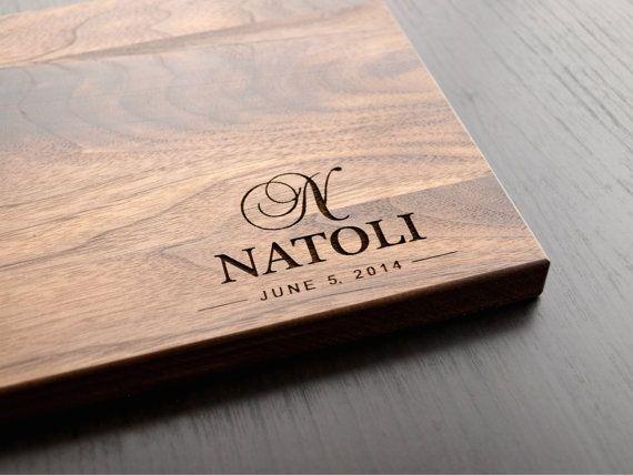 Personalized Cutting Board Wedding Gift Monogram Custom