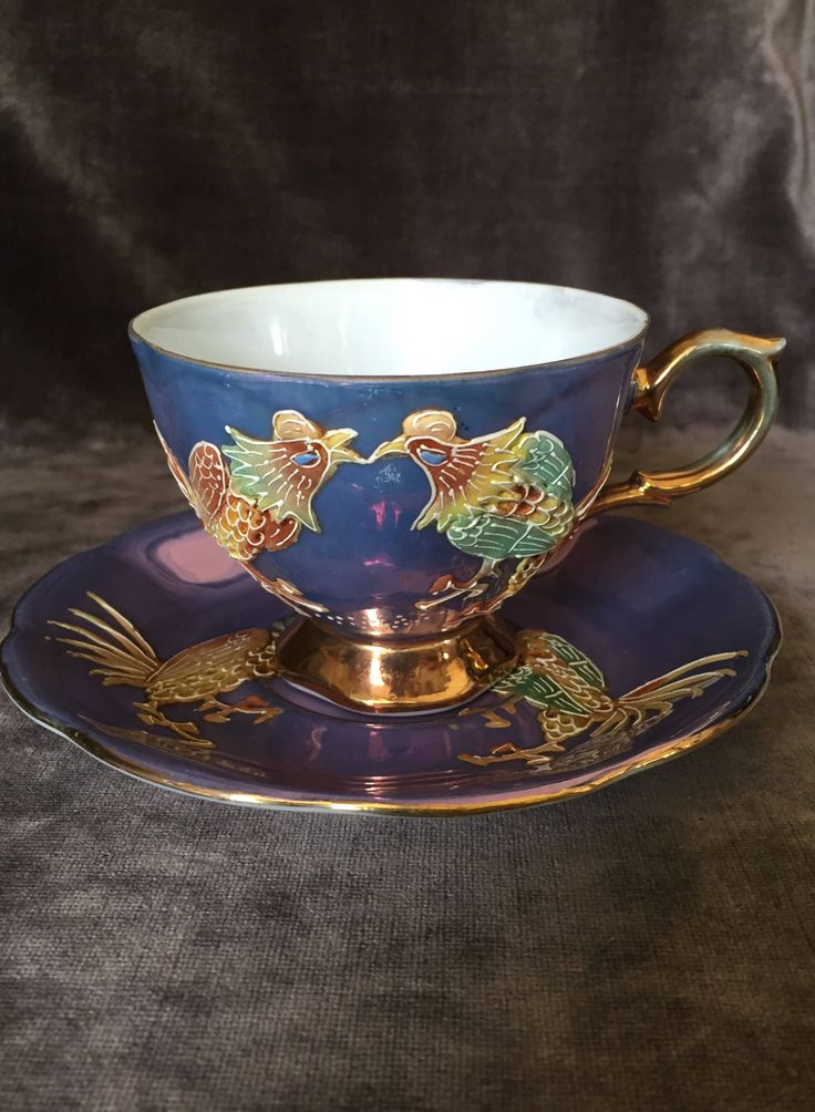 A personal favorite from my Etsy shop https://www.etsy.com/ca/listing/541790820/shafford-teacup-japan-purple-bird