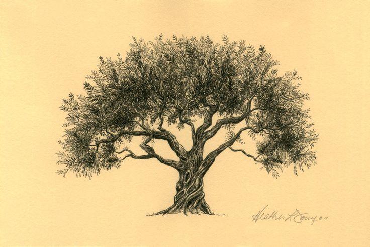 старинное дерево рисунок москвы