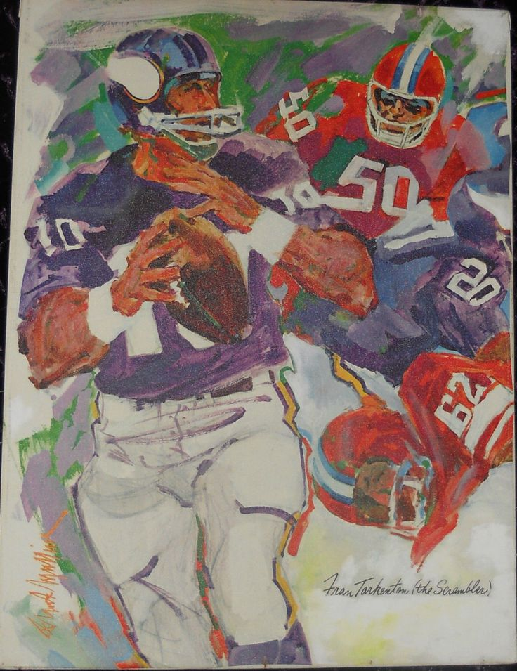 """Why would Arrow, a shirt manufacturer, distribute an illustration on canvas of the Minnesota Vikings' Hall-of-Fame quarterback Fran Tarkenton, the viewer might ask?. Simply because Arrow produced a shirt called the Arrow """"Scrambler"""", and during that same time the """"face"""" of the Minnesota Vikings' football franchise was none other than the popular Fran Tarkenton, who's nickname just so happened to be """"The Scrambler"""". 