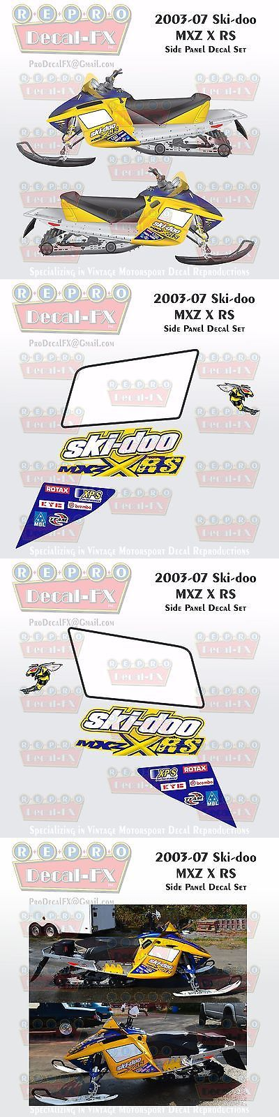 Snowmobile Parts 23834: 2003-07 Ski-Doo Mxz X Rs Rev Reproduction Side Panel Vinyl Decals 8 Pieces -> BUY IT NOW ONLY: $104.95 on eBay!