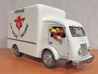 maquette frigo vache rieuse camion spirou mesozoique