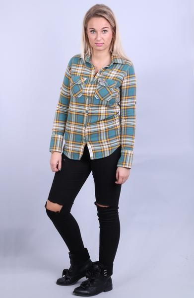 Superdry Womens S Casual Shirt Check Green Yellow Cotton - RetrospectClothes