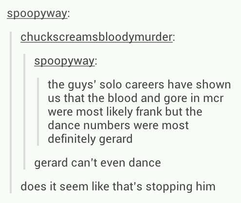 HE'S A GLITTERY ALIEN IN A NICE SUIT, OF COURSE HE CAN DANCE. idgits. Sorry, but this post is hilarious XD