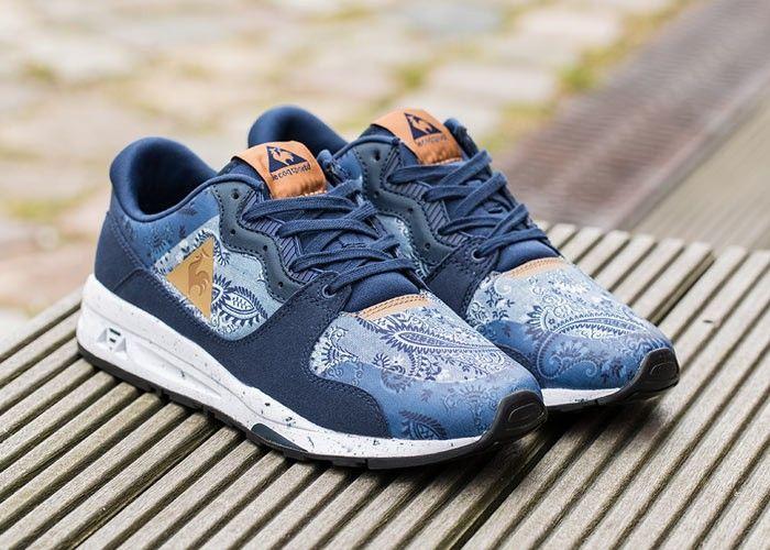 Le Coq Sportif R1400 Paisley (dark navy) // €105 // #. Vegan SneakersSneaker  StoresRunning SneakersDon't JudgeShoes MenPaisleySlippersRunway ...