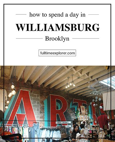 How to spend a day in Williamsburg, Brooklyn - Things to do - NYC - New York City - Artist and Fleas - Flea Market