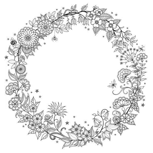 таинственный сад раскраска - Поиск в Google