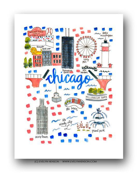 Chicago Map Print