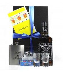 Spirit & Hip Flask Birthday Box at just $98.00.  #Gifts    #OnlineGifts